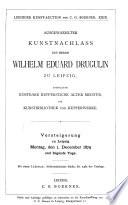 Catalog ausgewählter von Herrn Wilhelm Eduard Drugulin in Leipzig ...