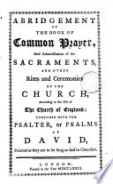 Abridgement of the Book of Common Prayer