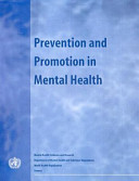 Prevention And Promotion In Mental Health