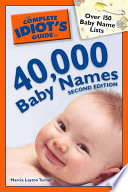 The Complete Idiot S Guide To 40 000 Baby Names