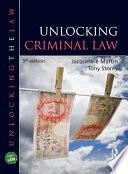 Unlocking Criminal Law  Third Edition