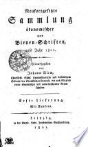 Neufortgesetzte Sammlung ökonomischer Schriften, aufs Jahr 1801