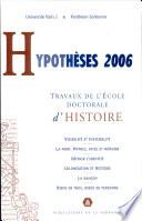 Hypothèses 2006