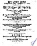 Rechtliches Bedencken, Von Confiscation der Zauberer und Hexen-Güther