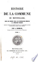 Histoire de la commune de Montpellier