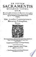 De Septem Sacramentis ecclesiae cathol