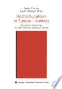 Hochschulreform in Europa — konkret