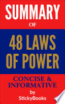 Summary of  48 Laws of Power  by Robert Greene and Joost Elffers   Concise   Informative Summary   StickyBooks