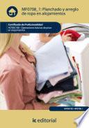 Planchado y arreglo de ropa en alojamientos  HOTA0108