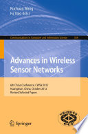 Advances in Wireless Sensor Networks