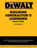 DEWALT   Building Contractor s Licensing Exam Guide