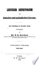 Leipziger Repertorium der deutschen und ausl  ndischen Literatur
