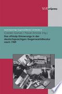 """Das """"Prinzip Erinnerung"""" in der deutschsprachigen Gegenwartsliteratur nach 1989"""