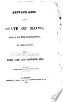 Special Laws of the State of Maine Passed by the Legislature Pdf/ePub eBook