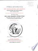 Storia diplomatica de' senatori di Roma