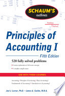 Schaum s Outline of Principles of Accounting I  Fifth Edition