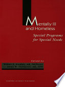 Mentally Ill And Homeless Special Programs For Special Needs