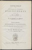 Catalogus der bibliotheken, nagelaten door Mr. J.A. Fruin, Mr. H. Verloren van Themaat en een emeritus predikant