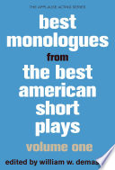 Best Monologues From Best American Short Plays Volume One