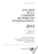 Anuario De La Comisi N De Derecho Internacional 2013 Vol Ii Parte 2