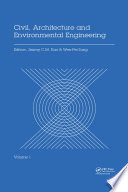 Civil  Architecture and Environmental Engineering Volume 1