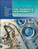 Pre Transition Mathematics