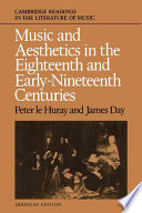 Music And Aesthetics In The Eighteenth And Early Nineteenth Centuries : and james day's invaluable anthology of...