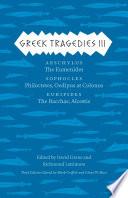 Greek Tragedies 3