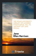 The Home University Library Of Modern Knowledge No 70 Ancient Art And Ritual