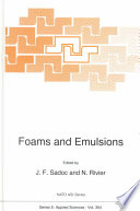 Foams And Emulsions book