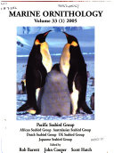 Marine Ornithology book