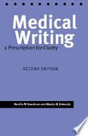 Medical Writing book