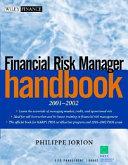 Financial Risk Manager Handbook 2001 2002