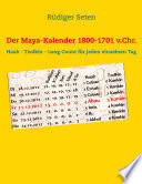 Der Maya-Kalender 1800-1701 v.Chr