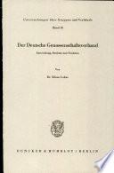 Der Deutsche Genossenschaftsverband