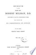 Memoir Of The Right Rev Robert Milman Lord Bishop Of Calcutta Metropolitan Of India