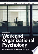 Work and Organizational Psychology