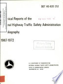 Technical Reports Of The National Highway Traffic Safety Administration