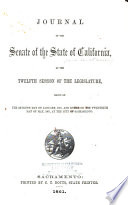 Journal of the Senate of the State of California at the     Session of the Legislature Book PDF
