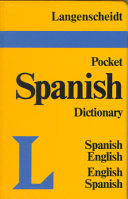 Langenscheidt s Pocket Spanish Dictionary