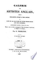 Galerie des artistes anglais  depuis hogarth jusqu    nos jours