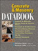 Concrete and Masonry Databook
