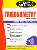 Schaum s Outline of Theory and Problems of Trigonometry
