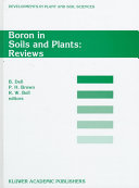 Boron In Soils And Plants book