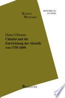 Chladni und die Entwicklung der Akustik von 1750–1860