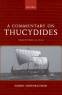 A Commentary on Thucydides  Volume III  Books 5 25 8 109