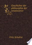 Geschichte der philosophie der renaissance