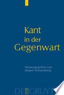 Kant in der Gegenwart