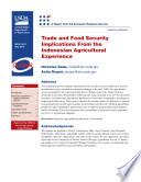 Trade and Food Security Implications from the Indonesian Agriculture Experience