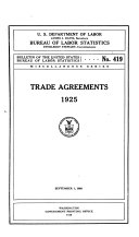 Trade Agreements  1925